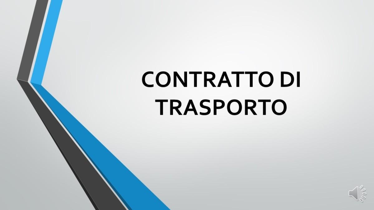 Quiz – Cos'è un Contratto diTrasporto?